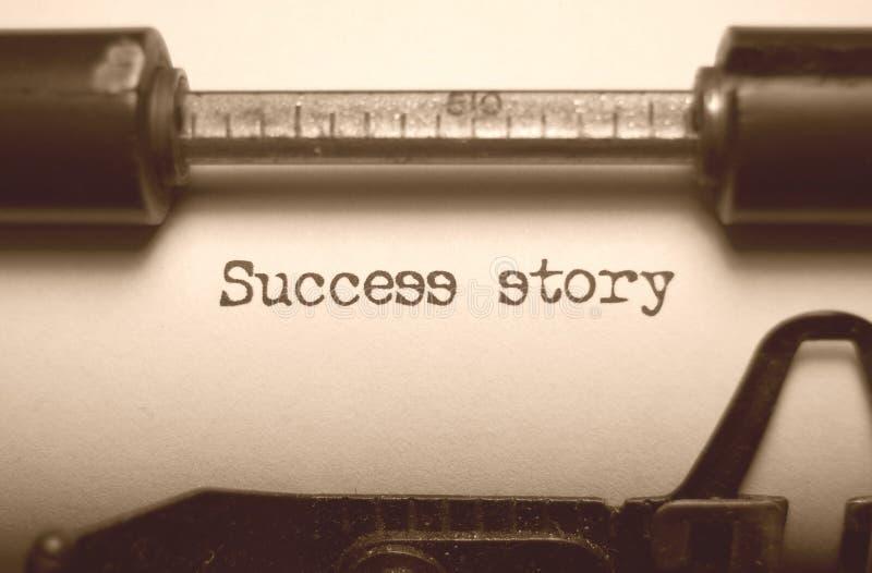 Het verhaal van het succes stock foto