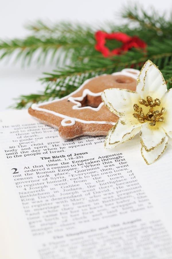 Het verhaal van Kerstmis stock foto