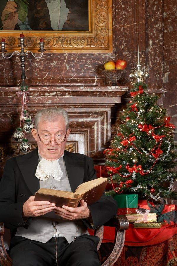Het verhaal van Kerstmis in een kasteel royalty-vrije stock afbeelding