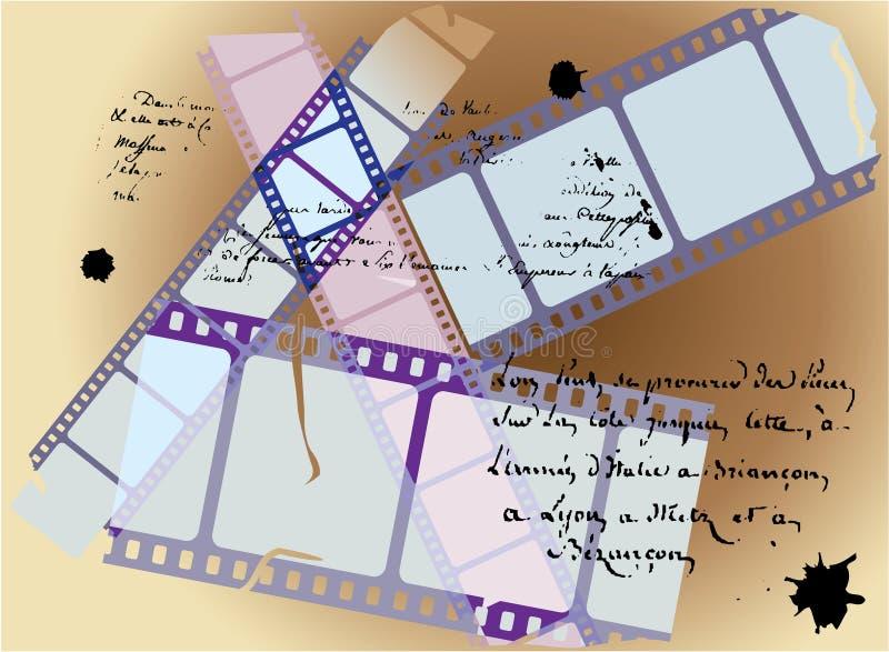 Het verhaalachtergrond van de film stock illustratie