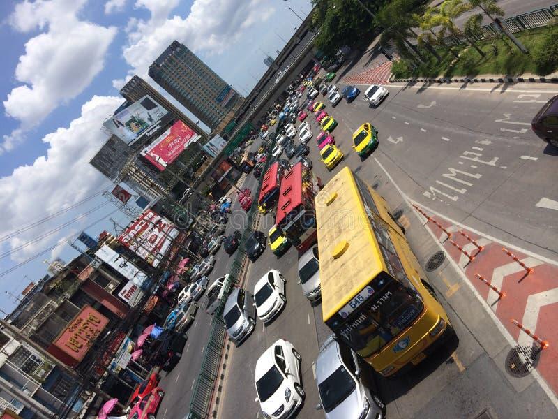 Het verkeer van Bangkok stock afbeeldingen