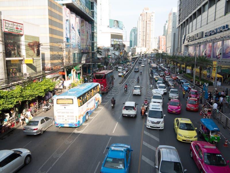Het verkeer van Bangkok stock fotografie
