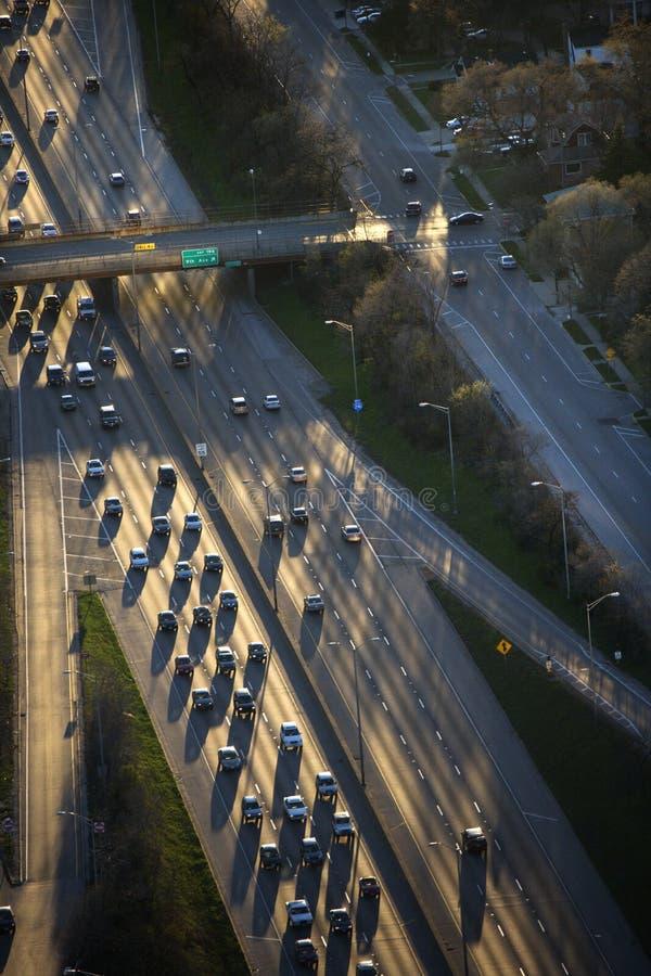 Het verkeer van Chicago. royalty-vrije stock afbeelding