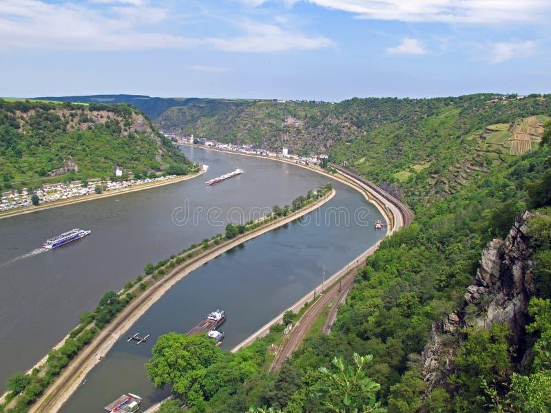 Het verkeer van de rivier stock afbeelding