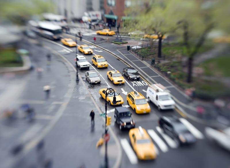 Het verkeer van de stad stock afbeelding