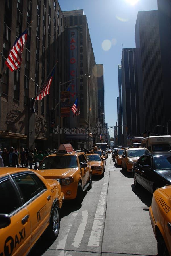 Het verkeer van de Stad van New York royalty-vrije stock afbeelding