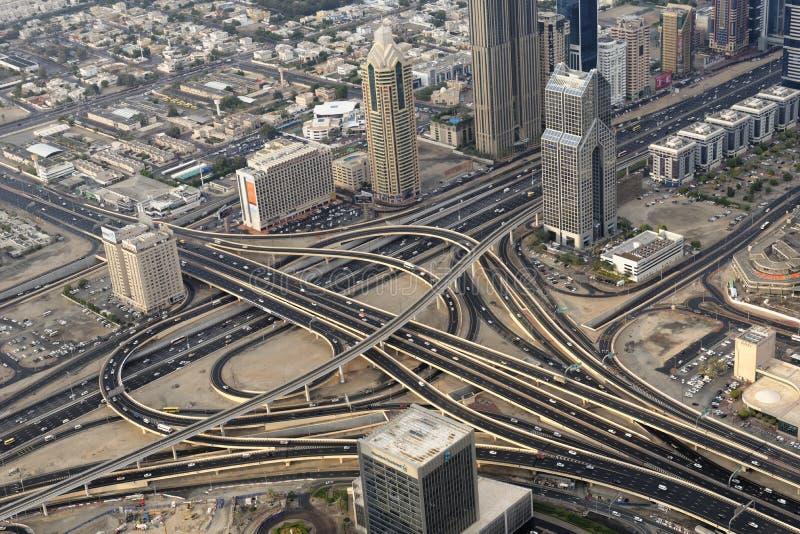Het verkeer van Doubai stock afbeelding
