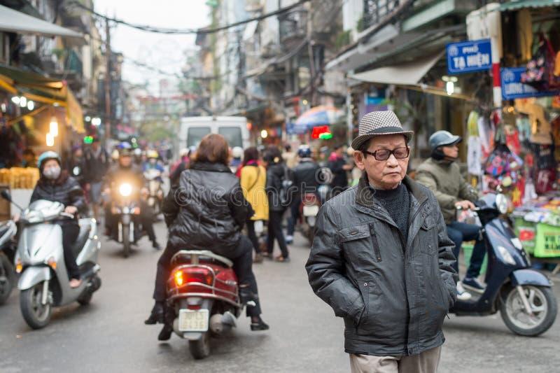 Het verkeer van Hanoi royalty-vrije stock afbeelding