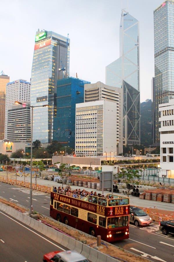 Het verkeer van Hongkong royalty-vrije stock afbeeldingen