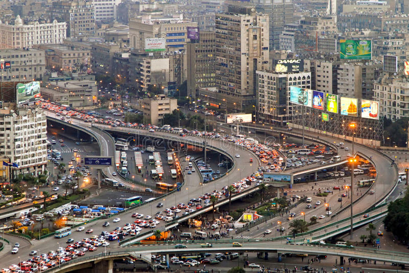 Het verkeer van Kaïro royalty-vrije stock foto's