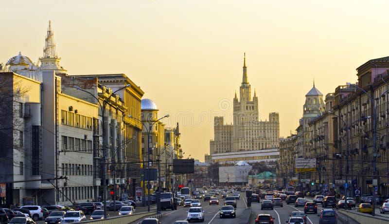 Het verkeer van Moskou stock foto's