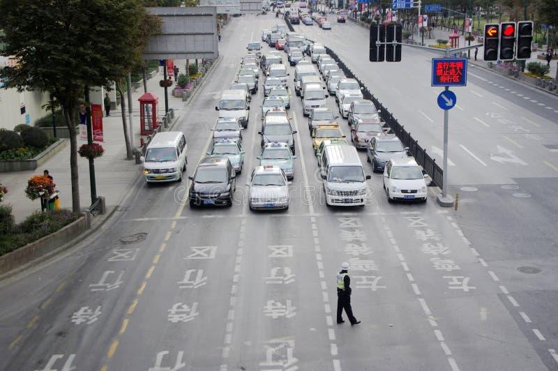 Het Verkeer van Shanghai in China