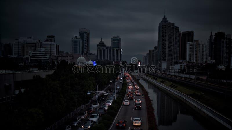 Het verkeer van Shenzhen royalty-vrije stock foto's
