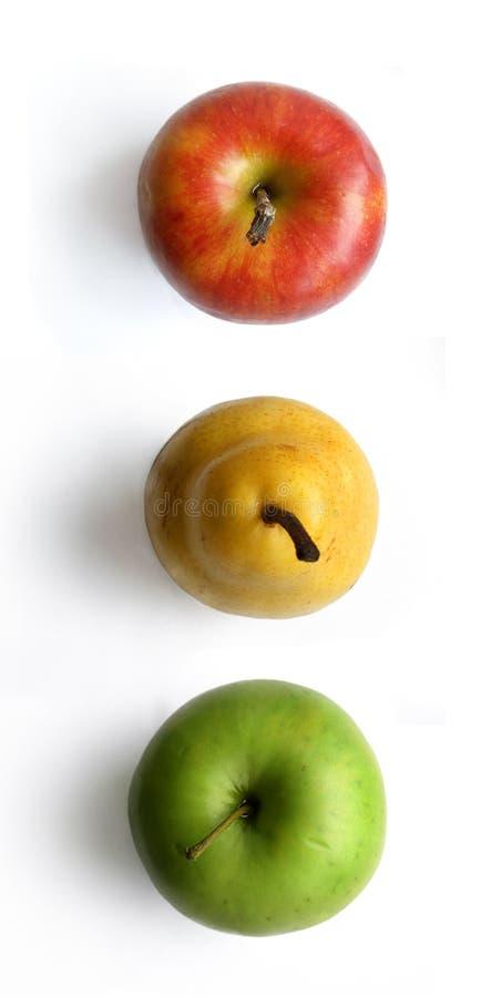 Het verkeerslicht van het fruit stock fotografie