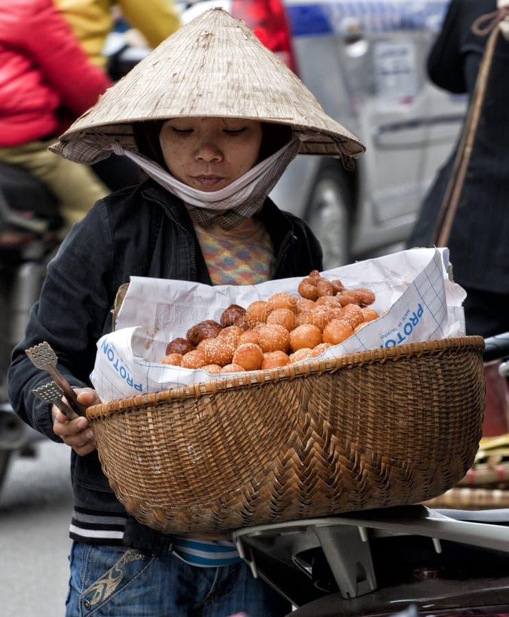 Het verkopen donuts stock fotografie
