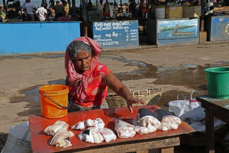 Het verkopen vissen stock foto's