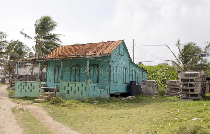 Het verlaten Eiland Nicaragua van het Graan van het huis royalty-vrije stock foto's