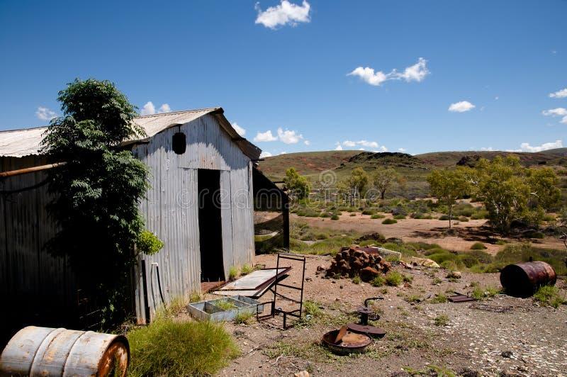 Het verlaten Kamp van de Exploratiemijnbouw - Australië stock afbeeldingen