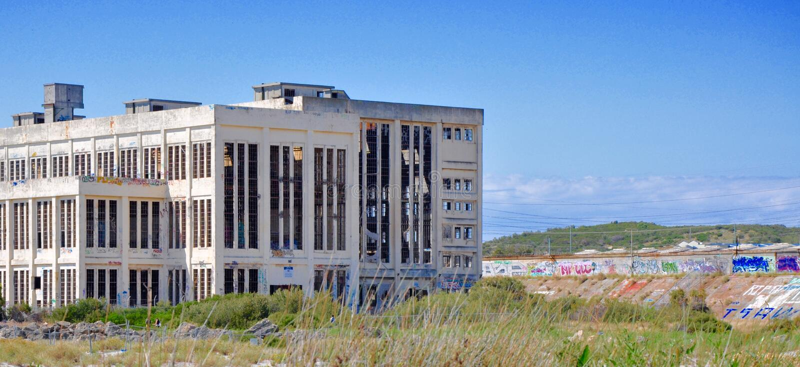 Het verlaten Landschap van het Machtshuis in Fremantle, Westelijk Australië royalty-vrije stock foto