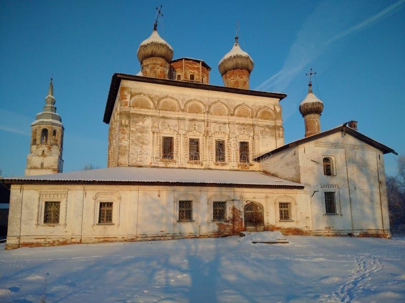 Het verlaten Orthodoxe Klooster stock afbeeldingen
