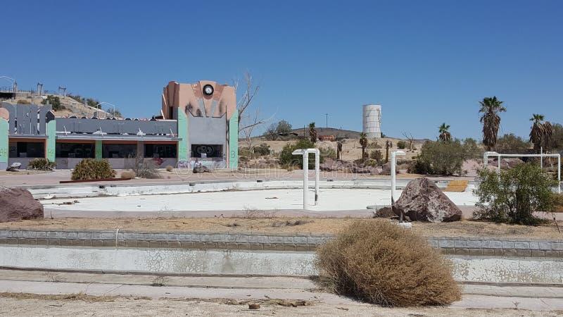 Het verlaten park van het rockahoolawater in Newberry-de Lentes Californië royalty-vrije stock foto's