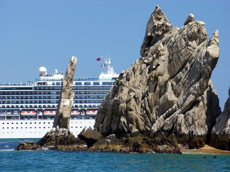 Het verlaten van Cabo San Lucas stock foto