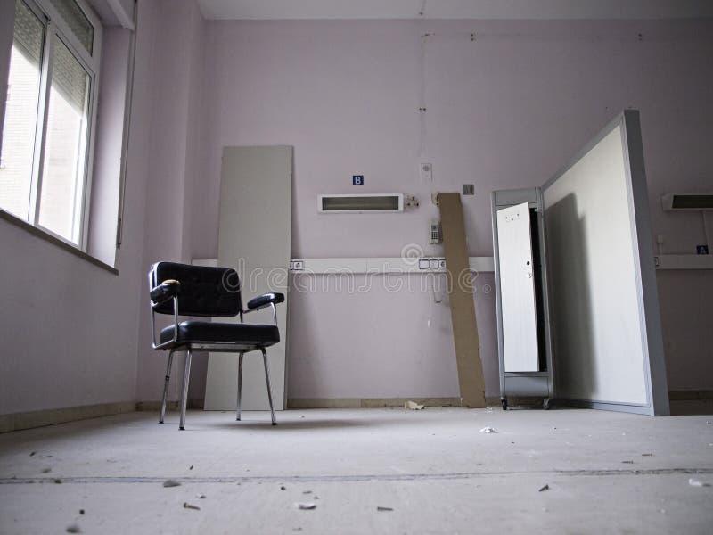 Het verlaten ziekenhuis stock afbeeldingen