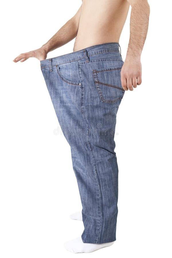 Het Verlies van het Gewicht van de mens royalty-vrije stock afbeelding