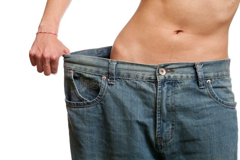 Before and after het verliezen van gewicht stock foto