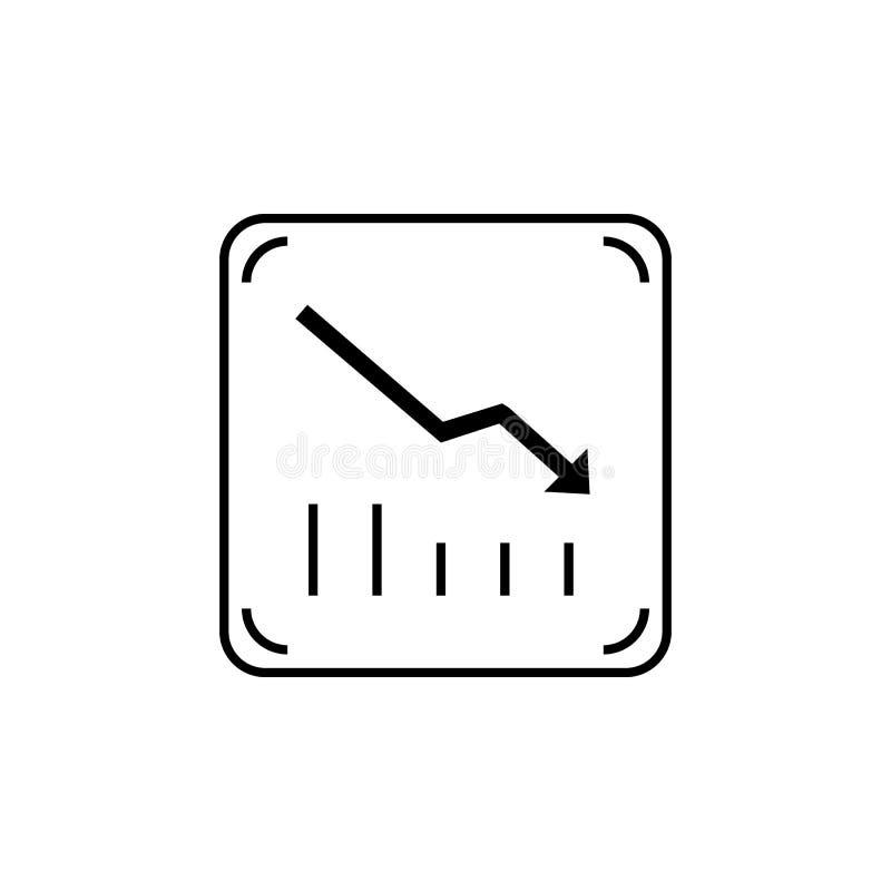 Het verminderen grafiek vectorpictogram stock illustratie