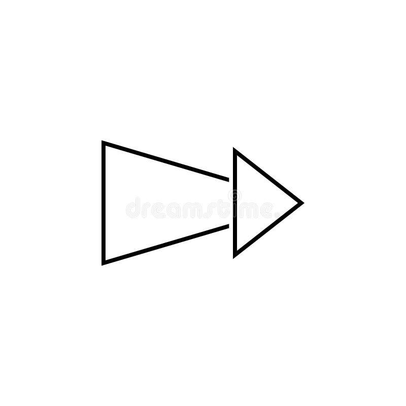 het verminderen pijlpictogram Dun lijnpictogram voor websiteontwerp en ontwikkeling, app ontwikkeling Het pictogram van de premie royalty-vrije illustratie