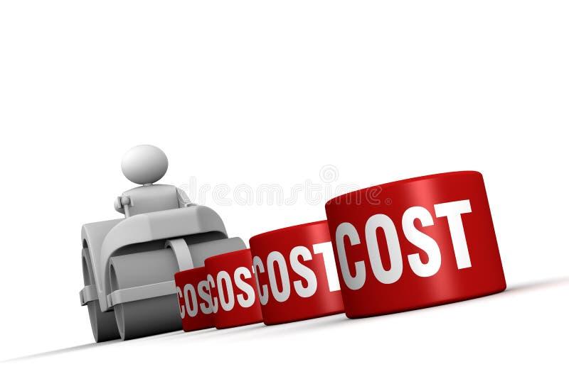 Het verminderen van kosten vector illustratie