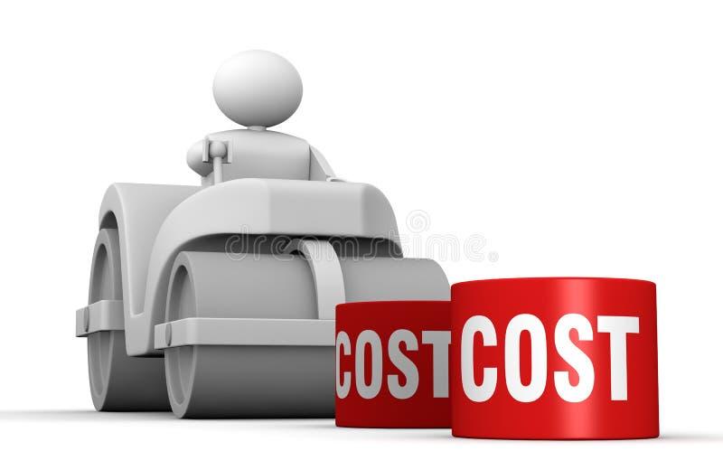 Het verminderen van kosten royalty-vrije illustratie