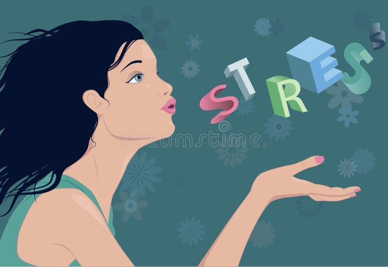 Het verminderen van spanning stock illustratie