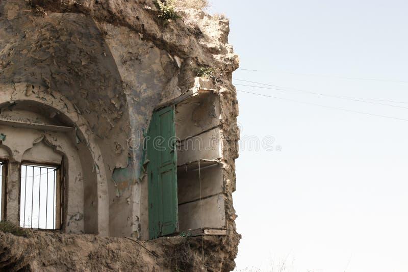 Het vernietigde Palestijnse huis door de Israëlische Lucht van de Defensiekracht strikeDestroyed Palestijns huis of huis door een stock foto's