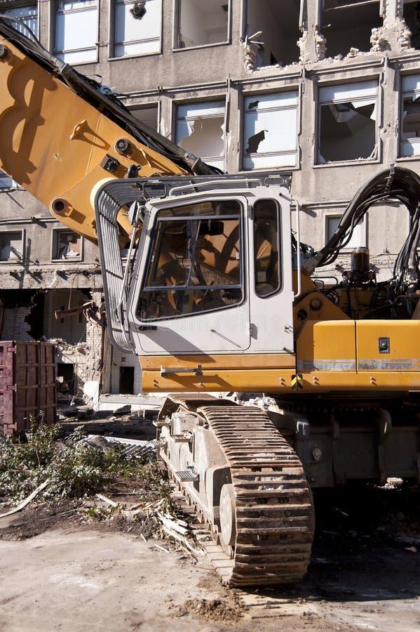 Het vernietigen van de bouw stock foto
