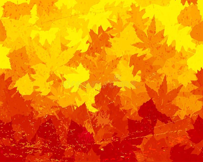 Het verontruste behang van de herfstbladeren royalty-vrije illustratie