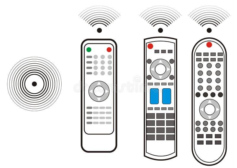 Het verre apparaat van TV vector illustratie