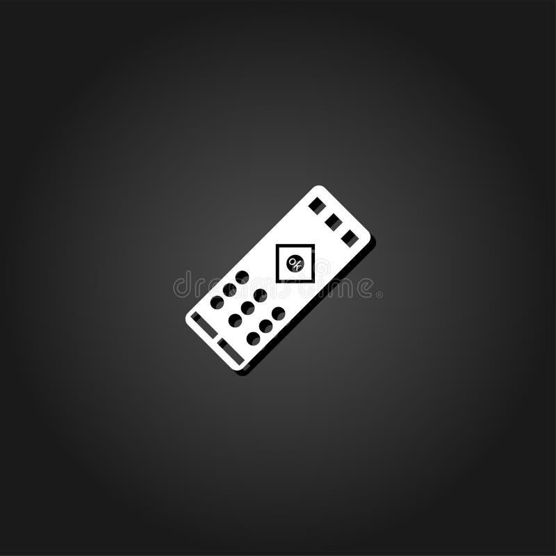 Het verre vlakke pictogram van TV royalty-vrije illustratie