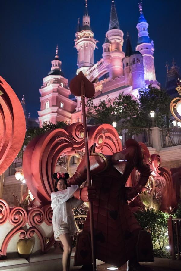 Het Verrukte Verhalenboekkasteel in Shanghai Disneyland, China royalty-vrije stock foto