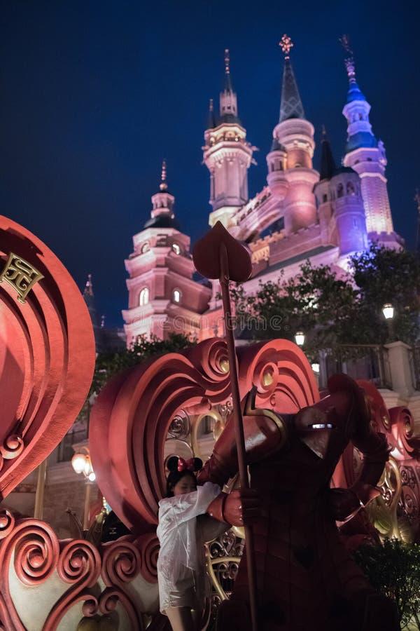 Het Verrukte Verhalenboekkasteel in Shanghai Disneyland, China royalty-vrije stock afbeelding
