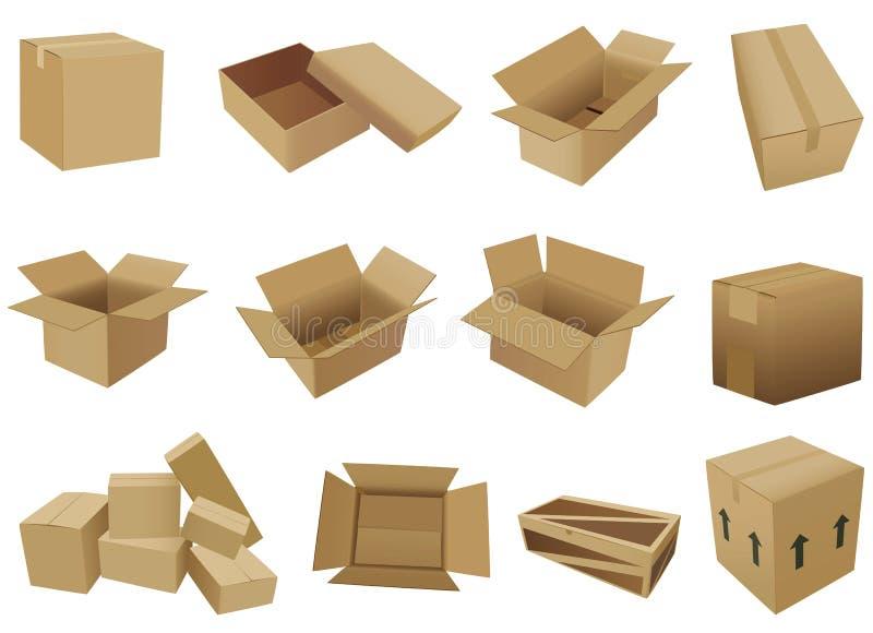 Het verschepen doosvector royalty-vrije stock afbeeldingen