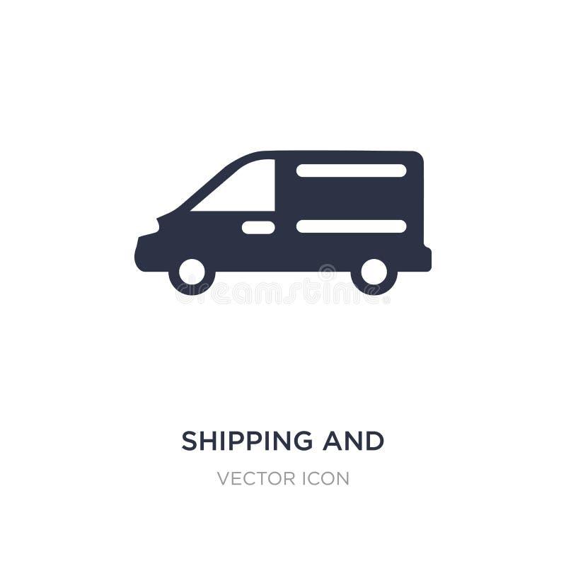het verschepen en leveringspictogram op witte achtergrond Eenvoudige elementenillustratie van Vervoerconcept stock illustratie