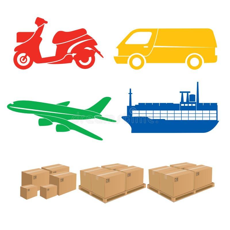 Het verschepen en Logistiek royalty-vrije illustratie