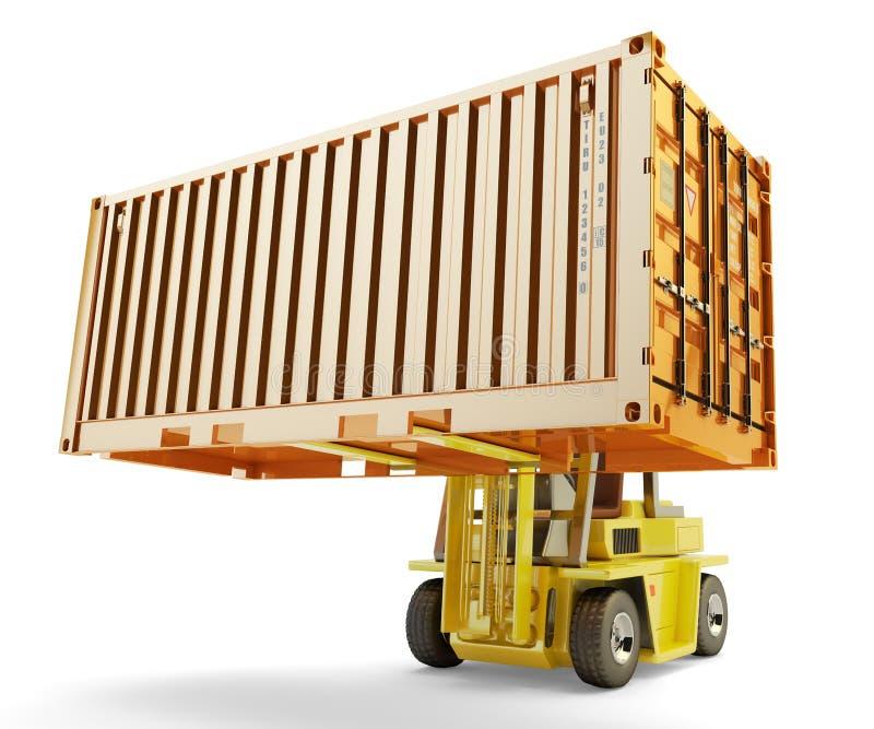 Het verschepen, levering, verzending, vrachtvervoer en logistisch concept royalty-vrije illustratie