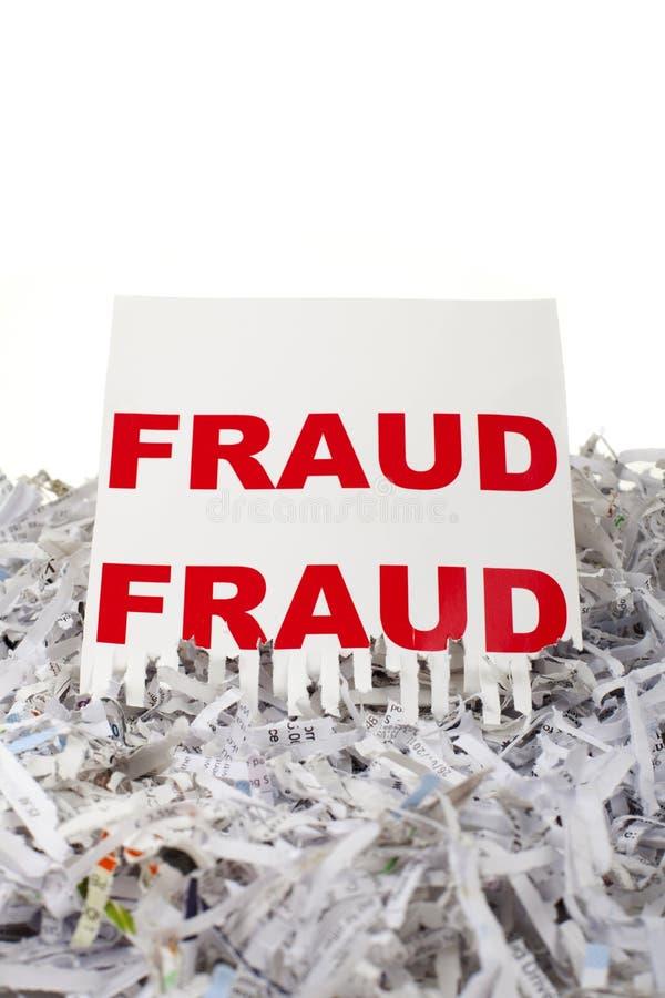 Het verscheuren van fraude. royalty-vrije stock afbeeldingen