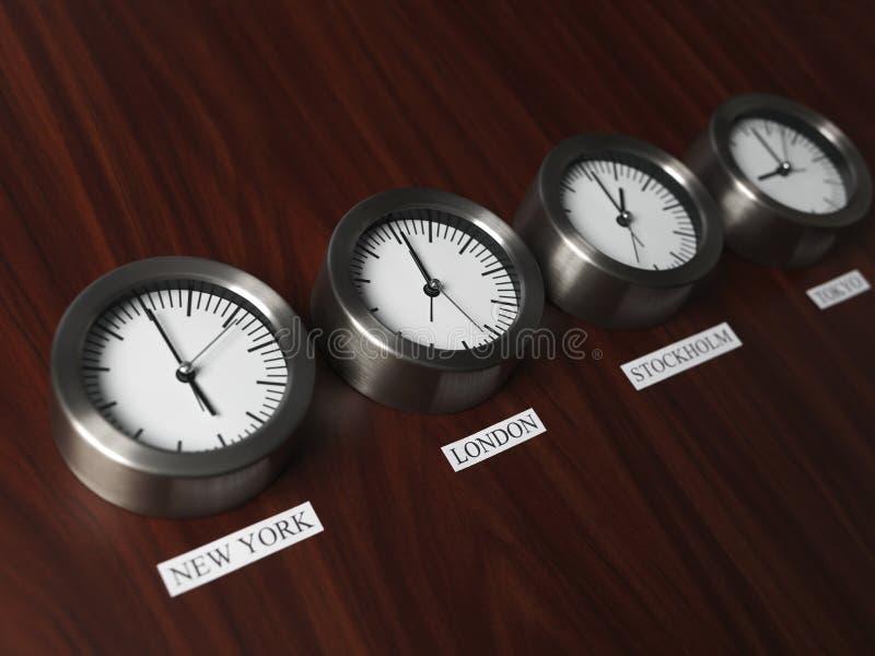 Het Verschil van de tijd royalty-vrije stock afbeelding
