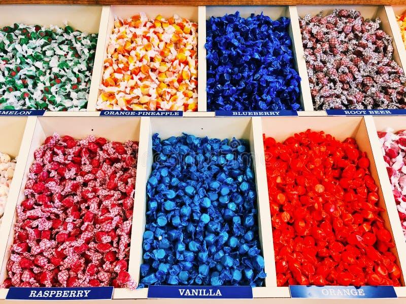Het verschillende taffy suikergoed van het aroma's zoute water royalty-vrije stock afbeelding