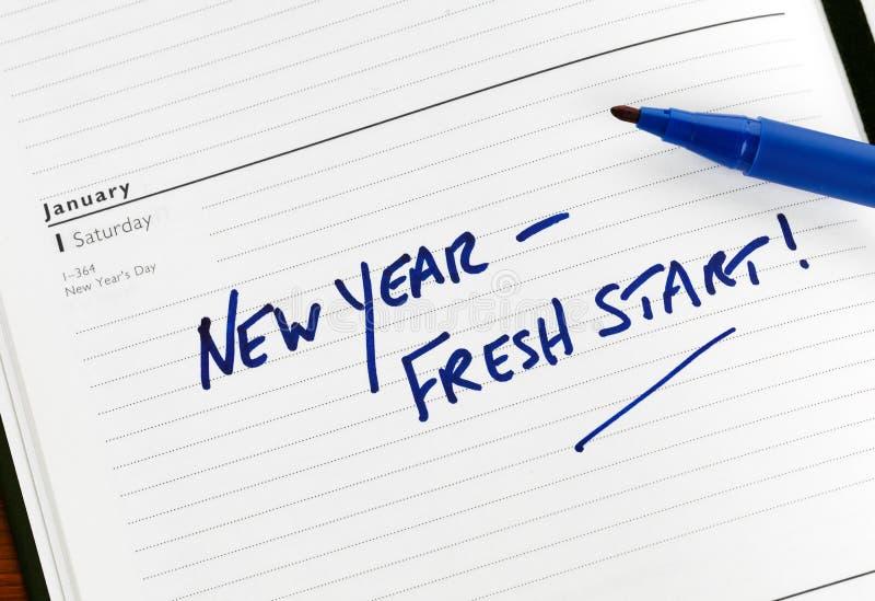 Het verse begin van het nieuwjaar royalty-vrije stock afbeelding