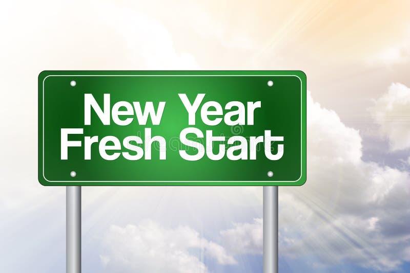 Het verse begin van het nieuwjaar vector illustratie